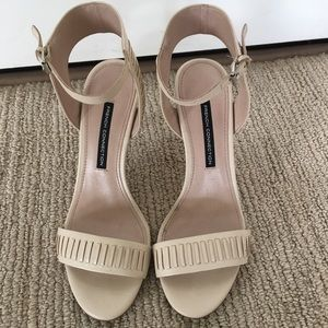 NWOT - Blush colored French Connection sandals